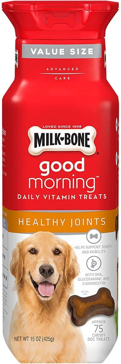 Best Joint Support Milk-Bone Good Morning Healthy Joints Daily Vitamin Dog Treats