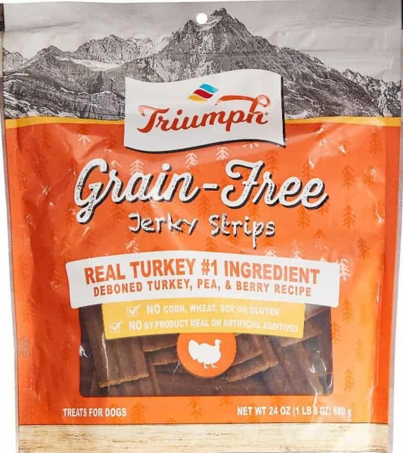 Best Overall Triumph Grain-Free Turkey, Pea & Berry Jerky Dog Treats