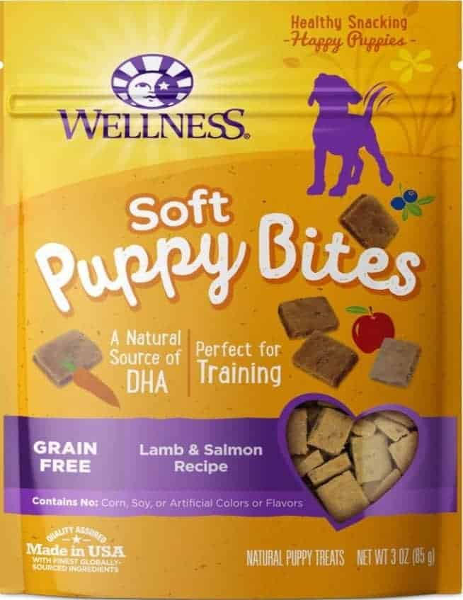 Best for Puppies Wellness Soft Puppy Bites Grain-Free Lamb & Salmon Recipe Dog Treats