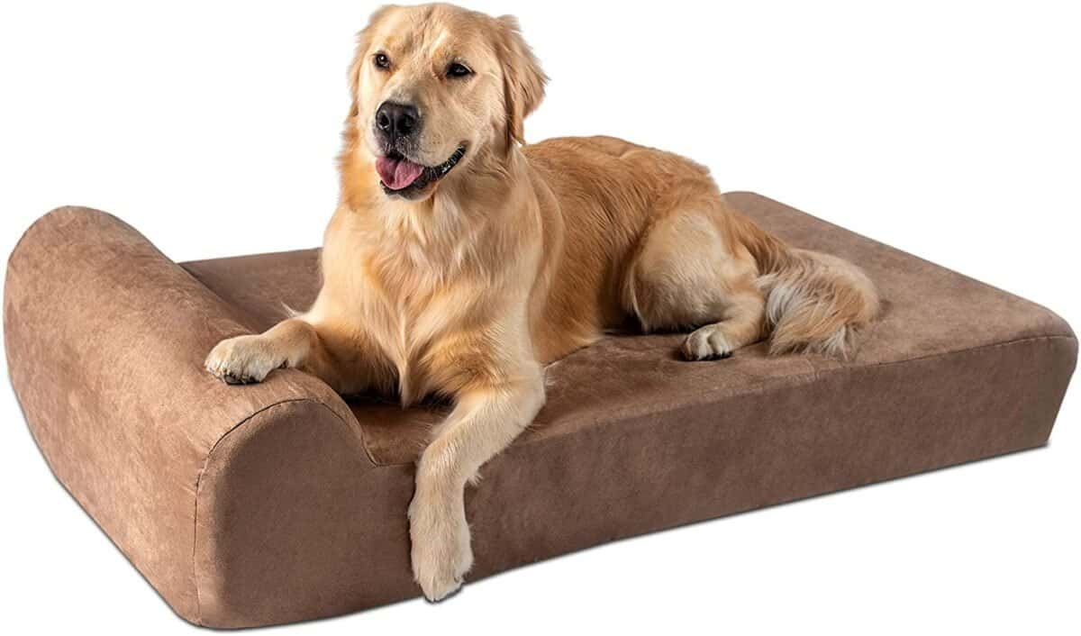 Big Barker 7 inch Orthopedic Dog Bed with Pillow-Top (Headrest Edition) Best Orthopedic